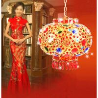 春节中式吊灯,灯笼灯阳台七彩,旋转婚庆结婚灯笼大红走马灯笼