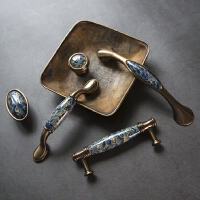 陶瓷拉手美式抽屉橱柜衣柜把手欧式田园现代简约柜门柜子家具