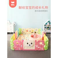 澳乐儿童婴儿游戏围栏宝宝爬行垫学步护栏安全栅栏家用室内游乐场跑跑熊16+2