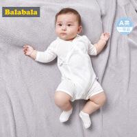 【2件6折】巴拉巴拉儿童宝宝连体衣贴身款爬爬衣夏装2018新款开肩按扣内着服