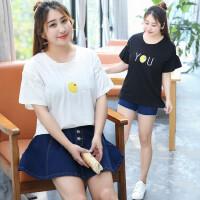 夏新款大码女装卡通加肥加大码印花短袖圆领T恤韩版宽松上衣