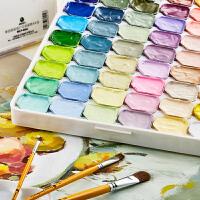 马利果冻水粉颜料套装54色初学者浓缩黑板报颜料马利牌学生用