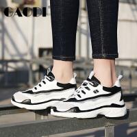 高蒂女鞋松糕底休闲鞋春季2018新款厚底熊猫鞋韩版学生运动鞋子女