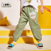 【3件2折:41.8元】男童防蚊裤纯棉薄款2021夏季款儿童哈伦运动长裤子棉麻潮中大童