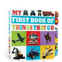 英文原版 My First Book Of Things That Go学习家园 我的首本交通工具书 儿童单词启蒙纸板