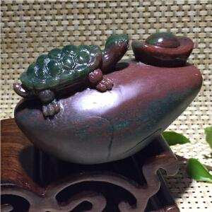 紫绿玛瑙金钱龟小摆件【DCO(A185#)】