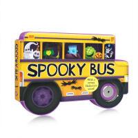 【全店300减100】英文原版绘本 Spooky Bus: with a Creepy Halloween Sound