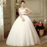 婚纱礼服新娘结婚高腰孕妇女齐地抹胸韩式大码显瘦2018新款春夏季