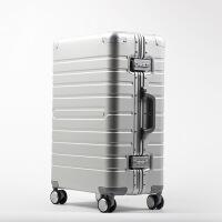 全铝合金拉杆箱抖音同款网红金属铝镁合金行李箱万向轮女20 24 拉杆箱旅行箱