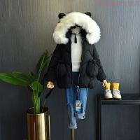 2018冬季韩版女童加厚加厚保暖棉衣中小儿童羽绒棉潮 15码 身高120-125