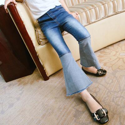 女童牛仔裤长裤2018新款春装中大童装儿童裤子女孩休闲时髦喇叭裤 发货周期:一般在付款后2-90天左右发货,具体发货时间请以与客服协商的时间为准