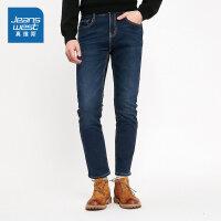 [5折秒杀价:66.9元,仅限12.4-5]真维斯男装 冬装新款 休闲弹力牛仔长裤