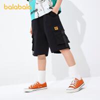 【8.4券后预估价:97.4】巴拉巴拉儿童裤子男童短裤工装裤2021新款夏装中大童薄款时尚潮酷