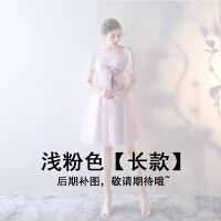 伴娘服2018新款韩版灰色晚装小礼服聚会派对连衣长裙大码学生女秋