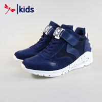 红蜻蜓童鞋男童中大童秋冬款高帮棉鞋运动鞋