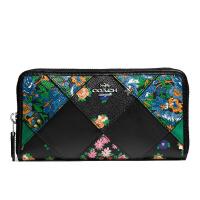 【当当自营】蔻驰(COACH)新款女士花卉皮革拼布手拿包卡包钱包 F57650