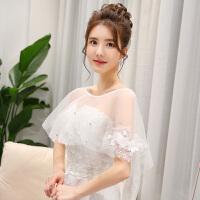 新娘披肩薄款新款蕾丝披肩夏季结婚小外套斗篷披肩婚纱礼服披肩女