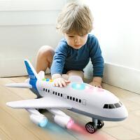 直升飞机音乐男孩玩具车模型 儿童玩具惯性宝宝仿真客机大号飞机