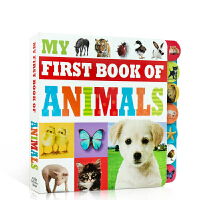英文原版 My First Book of Animals 儿童启蒙动物单词认知纸板书词典图画撕不烂书 亲子阅读0-2