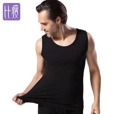 比瘦BISOU BISOU 男士保暖背心 双层加绒加厚内衣 塑身背心 舒适贴身美体内衣 BB113比瘦-专注于健康塑身14年