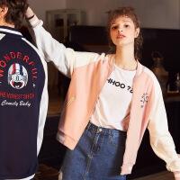 秋冬季新款情侣外套韩版学生针织棒球服男女港风加绒开衫卫衣