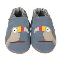美国直邮/保税区发货 Robeez Toucan Tom 男童软底学步鞋 巨嘴鸟图案 蓝色 海外购