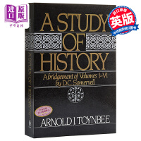 【中商原版】汤因比:历史研究(第一卷)英文原版 A Study of History, Vol. 1: Abridgement of Volumes I-VI