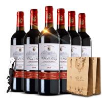 法国红酒 法国波尔多原瓶原装进口AOC意梅斯干红葡萄酒 整箱