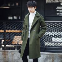 男装外套2018新款青少年修身呢子大衣韩版秋冬季学生风衣男中长款