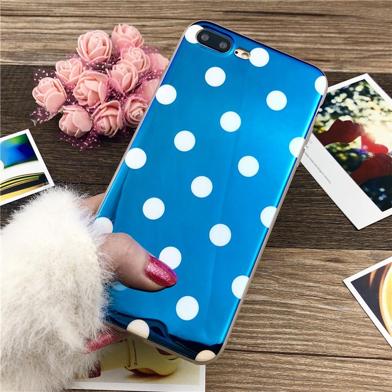 蓝光苹果6手机壳iPhone6s硅胶套7plus/8plus潮女款挂绳ix全包防摔 创意蓝光 送挂绳