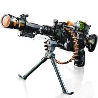电动玩具枪声光音乐儿童2-3-6岁狙击枪震动机关枪礼物