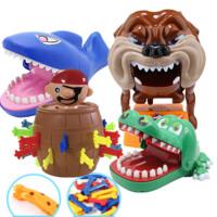 咬手指恶搞鳄鱼玩具鲨鱼海盗桶小心恶犬儿童抖音同款整蛊创意 均码