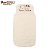 【秒杀价:10】Pawinpaw卡通小熊童装新款男女宝宝款隔汗巾婴幼儿纯棉垫背巾