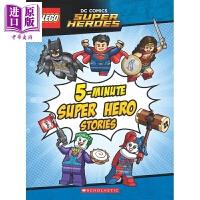 【中商原版】5分钟超级英雄故事 5-Minute Super Hero Stories 原版卡通 乐高 精品绘本 故事书