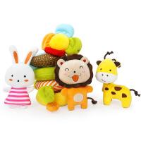 橙爱奇趣森林动物床绕床围床挂 多功能婴儿车床头挂饰益智玩具