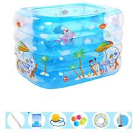婴儿游泳池充气保温婴幼儿童宝宝游泳桶家用洗澡桶新生儿浴盆 115cm休闲岛 经济套餐