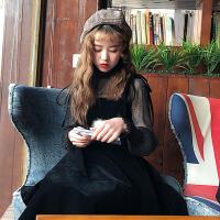 夏季女装新款韩版学生套装裙两件套裙子复古吊带连衣裙小清新
