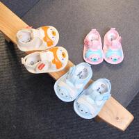 新生儿凉鞋男女童学步鞋夏季婴儿鞋子小布鞋
