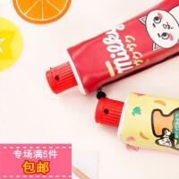 日韩个性创意牙膏造型学生笔袋可爱卡通大容量文具收纳包