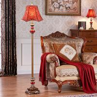 落地灯卧室客厅创意树脂红色*品结婚欧式书房地灯