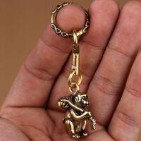 复古创意纯铜黄铜十二生肖猴子钥匙扣挂件吊坠饰品项链配饰小礼物