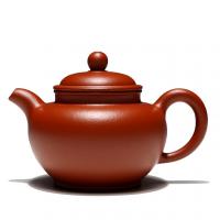 【只有一个】宜兴 赵庄朱泥 掇只壶 紫砂茶壶 紫砂壶茶具 养生泡茶壶 茶水壶 沏茶壶 家用迷你手工紫砂壶茶壶 正品紫砂