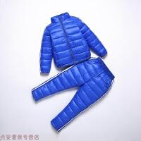 冬季秋冬儿童羽绒棉套装男女童婴幼儿宝宝轻薄保暖棉衣棉裤两件套秋冬新款