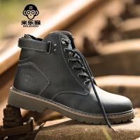米乐猴 潮牌军靴短靴男士马丁靴英伦风高帮鞋工装男靴子韩版大头鞋男鞋