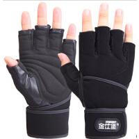健身房锻炼训练哑铃举重护腕手套 健身手套男士运动手套半指