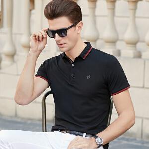 2019新款T恤短袖男翻领半袖体恤潮流衣服男夏衬衫领Polo衫