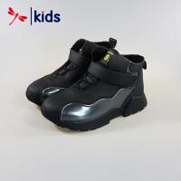 红蜻蜓童鞋男童中大童真皮皮鞋冬季棉鞋