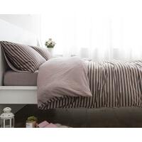简约全棉天竺棉针织棉四件套被单床笠式床单床上用品良品 1.2米床 床单式