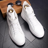 CUM 潮牌小白鞋高帮男鞋青年厚低休闲鞋中帮短靴内增高白皮鞋鞋