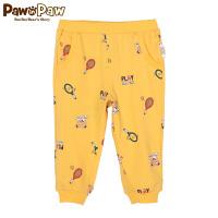 【3件3折 到手价:89】Pawinpaw卡通小熊童装夏男宝宝运动休闲婴幼儿小脚裤子
